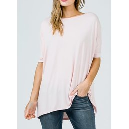 Bamboo Half Sleeve Loose Fit Pico Tunic