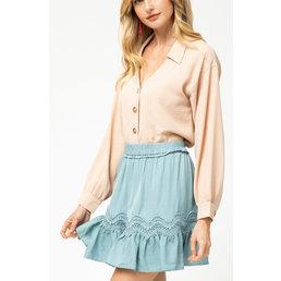 Ruffle High Waist Skirt