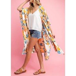 Midi Floral Kimono