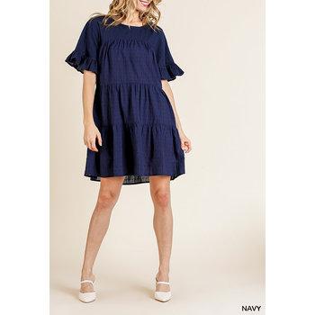 Swiss Dot Tiered Dress