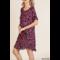 Animal Print Frayed Hem Dress