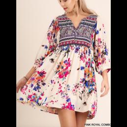 Floral Peasant Dress