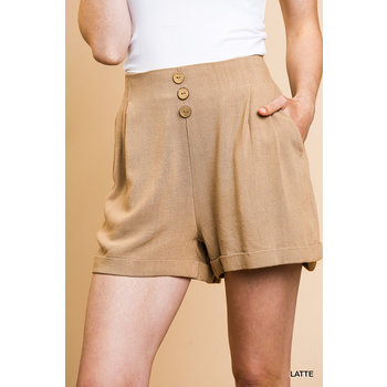High Waist Rolled Shorts