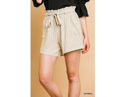 Pinstripe Paperbag Shorts