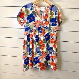 Floral V Neck Dress