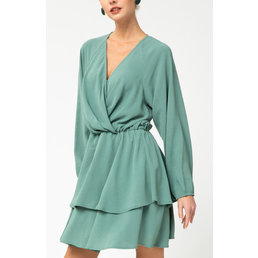 Tiered Surplice Dress