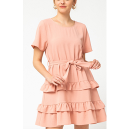 Tiered Scoop Neck Dress