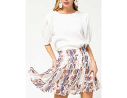 Reptile Print Tiered Skirt
