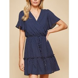 Polkadot Flare Dress