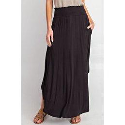 Smocked Maxi Skirt