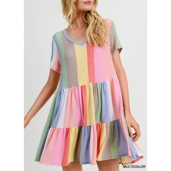 Colorful Tiered Dress
