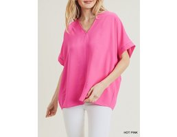 V Neck Boxy Blouse