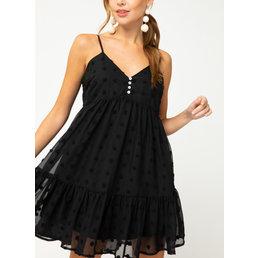 Swiss Dot Babydoll Dress