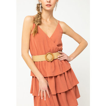 Tiered Surplice Dress