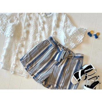 Striped Highwaist Shorts