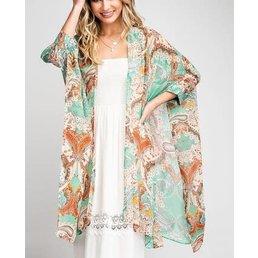 Oversize Paisley Kimono