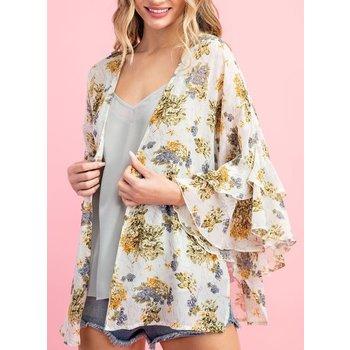 Ruffle Sleeve Kimono