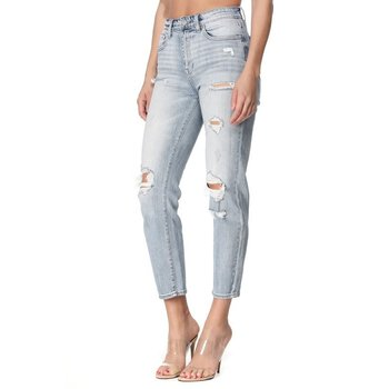 High Rise Crop Mom Jeans