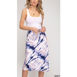 Tie Dye Midi Skirt