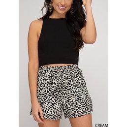 Leopard Paperbag Shorts