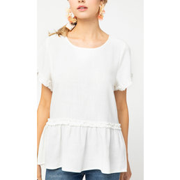 Frill Detail Babydoll Top