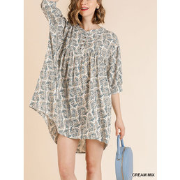 Button Up Peasant Dress