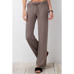 Brushed Baby Rib Sweatpants W/ Adjustable Waist Tie