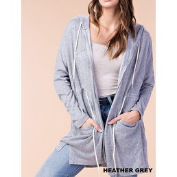 Two Tone Knit Zip Up Cardigan