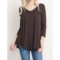 Bamboo V Neck Knit Top