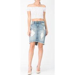Pencil Skirt w/Unfinished Hem