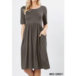 Pleated TShirt Dress