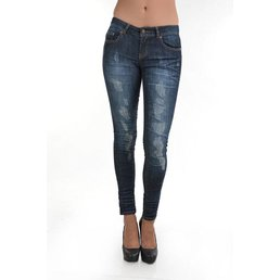5 Pocket Destroyed Skinny Jeans