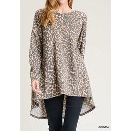 Leopard Hi-Lo Top