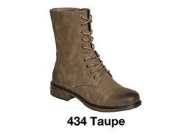 Faux Suede Lace Up Ankle Boots