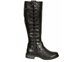 Tall Side Lace Harness Riding Boots W/ Inside Zipper