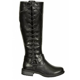 Tall Side Lace Harness Riding Boots W/ Inside Zipper