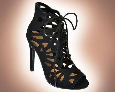 Paprika Lansky Black Lace Up Booties