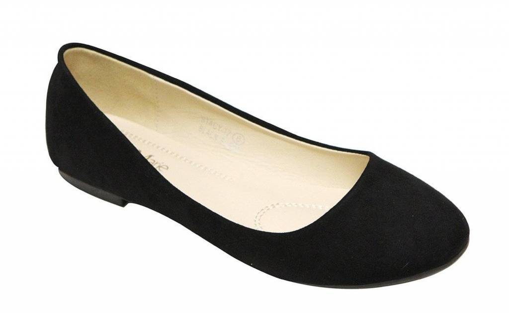 Bella Marie Black Suede Flats Stacy 12