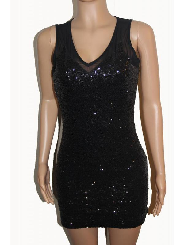 Spy Zone Exchange Black Dress With Sequence
