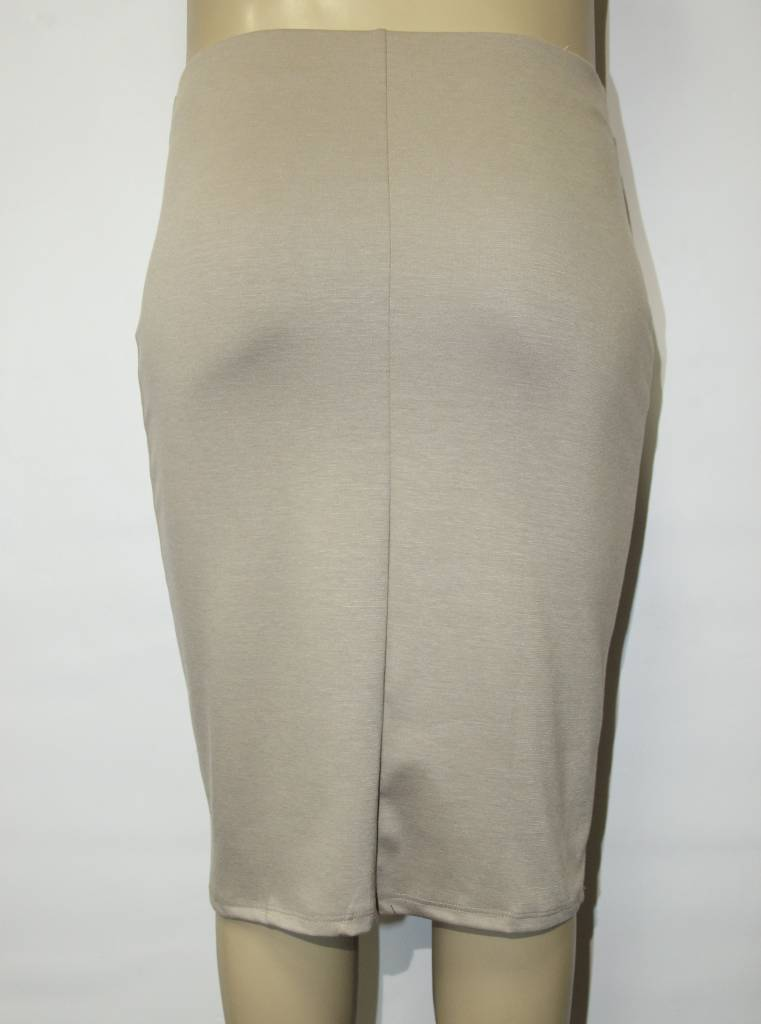 DNA Couture Plus Solid Midi Skirt