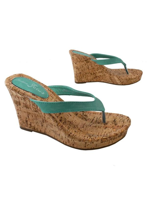 Alicia Mint Wedge Sandal 10