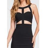 Cut out Detail Dress Black