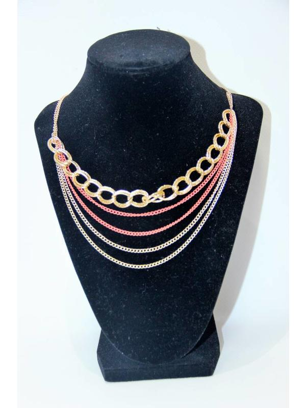My Style Necklace Gold & Peach