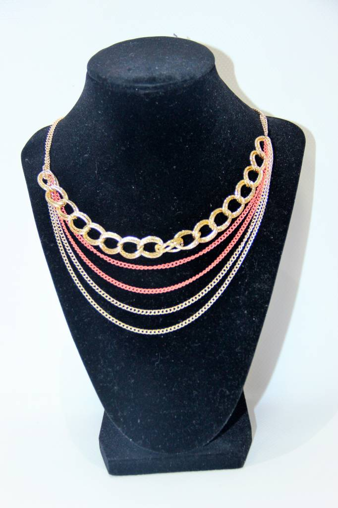 My Style My Style Necklace Gold & Peach