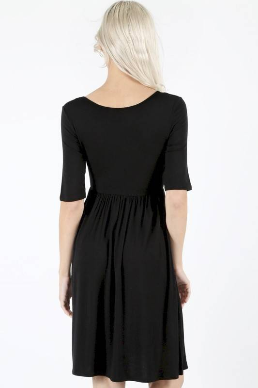 Short Sleeve NAvy Blue Dress
