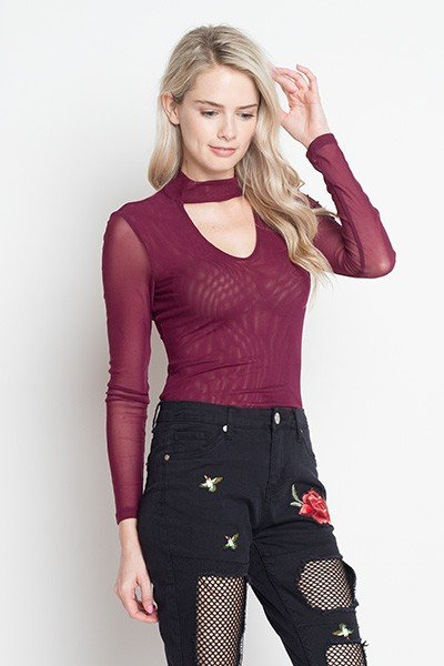 IRIS Plum Long Sleeve Bodysuit