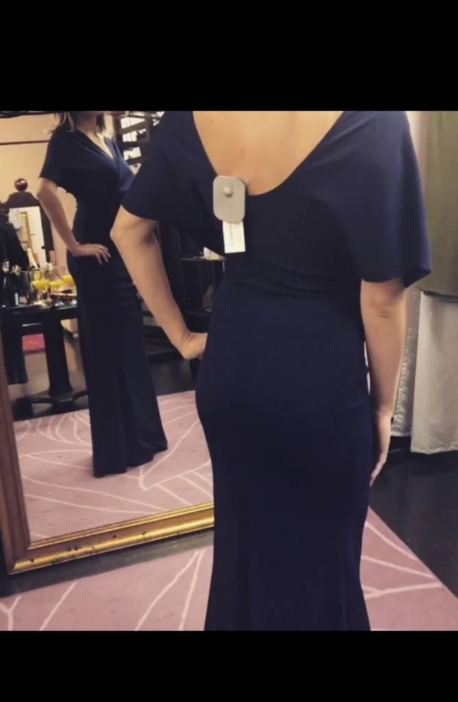 Navy Maxy Dress
