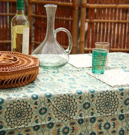 Green & Gold Garden Tablecloth