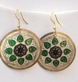 """""""Matsya"""" Medallion Hanging Earring"""