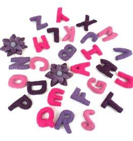 Pink & Purple Alphabet Garland